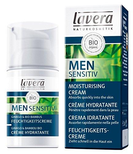 lavera Men Sensitiv Crème Hydratante - vegan - Cosmétiques naturels - Ingrédients végétaux bio - 100% naturel 30 ml