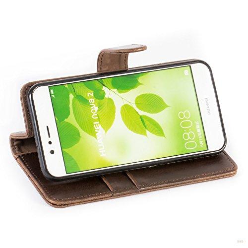 Mulbess Handyhülle für Huawei Nova 2 Hülle, Leder Flip Case Schutzhülle für Huawei Nova 2 Tasche, Vintage Braun - 6