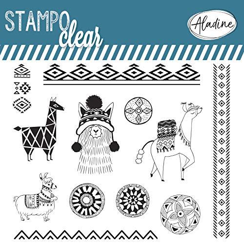Aladine 04229 Stampo Clear Ethnic Lama