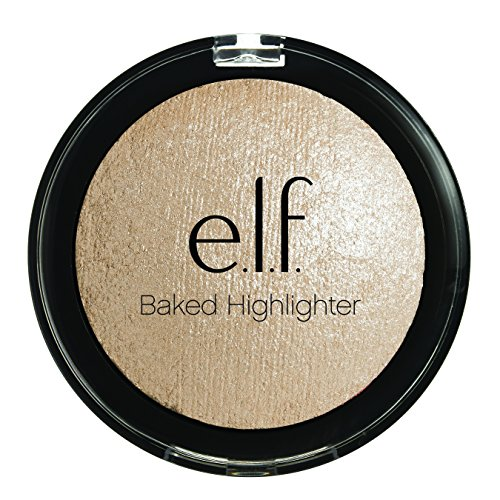 e.l.f. Cosmetics Baked Highlighter Contouring Makeup, Moonlight Pearl, .17 Ounce Compact