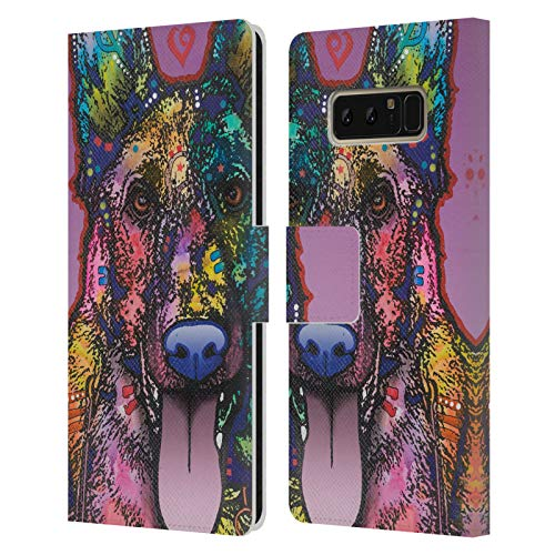 Head Case Designs Officially Licensed Dean Russo Ninja Dogs 4 Leather Book Wallet Case Cover Compatible with Samsung Galaxy Note8 / Note 8