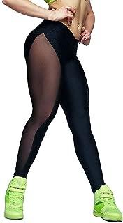 Womens Net Yarn Stitching Stretch Underpants Running Tight Fitness Yoga Pants