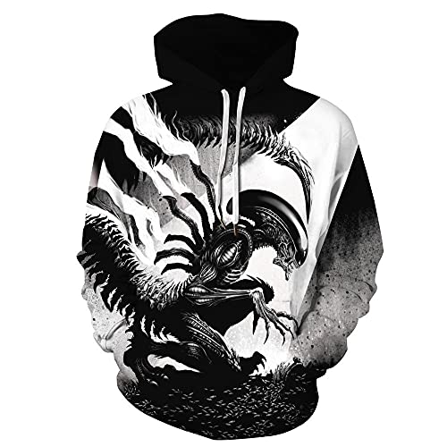 Anteater Viking Myth Sudadera con Capucha Pareja Hombres Cool 3D Print Pullover Hombre Sudadera Casual de Manga Larga Unisex Rapero Hip Hop Chándal Cosplay Streetwear Top