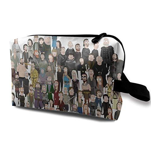 Bolsa de maquillaje de viaje con muñequera Bolsas de cosméticos portátil con cremallera para niñas y mujeres