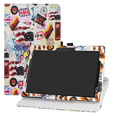 LFDZ Lenovo Tab E10 draaiende Hoesje,PU leren Flip Hoesje met 360 graden draaiende houder Hoes voor Lenovo Tab E10 2018 10-Inch Tablet,Godin