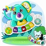 Juguetes de teclado de piano musical para bebés de 6 9 12 18 meses, juguetes de teclado de piano musical, juguetes educativos de aprendizaje musical con luces y sonidos para bebés, niños pequeños
