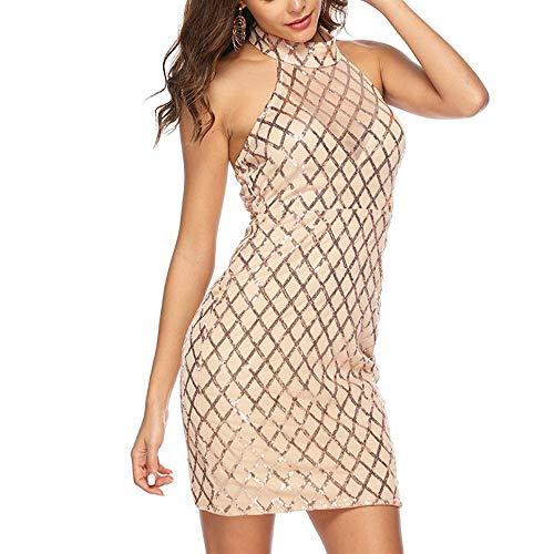 Subink Backless reizvolles Ineinander greifen Sequined stickte weibliches Beutelhüftekleid, reizvolles Ineinander greifen-Kurzschlusskleid der Damen