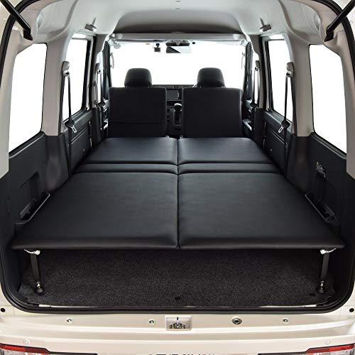 ハイゼット クルーズ専用 タイプB ベッドキット ブラックレザータイプ 20mmクッション材 車中泊マット