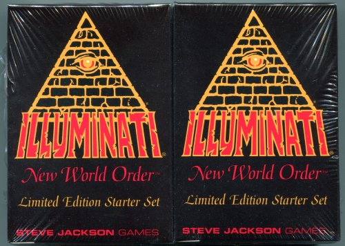 1994-1995 - Illuminati New World Order collectible card game - (INWO Limited Edition Starter Set) Factory Sealed 2 Double Decks 55 cards each INWO rulebook (110 Cards total) By Steve Jackson (Limited Edition 1st Printing 1994) (INWO , Starter Set)