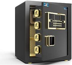 Safe Electronic Password Safe Office Alarm Safe Closet Hidden Mini Safe All Steel Security Safe (Color : Black, Size : 38...