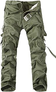 Mens Oversize Outdoor Pocket Cargo Pants Cozy Trousers Pants 1 US 3X-Large=China 4X-Large