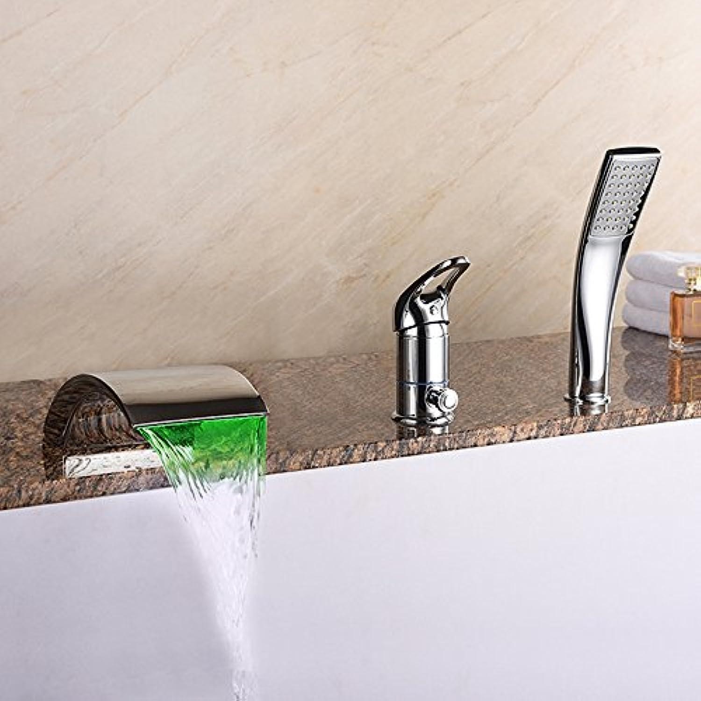 Modernen Stil LED Bad Wasserhahn Messing Waschbecken Wasserhahn Bad Handbrause Mischbatterien