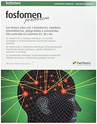 Herbora Fosfomen Premium - Jalea Real, 20 Vials, 200 mg