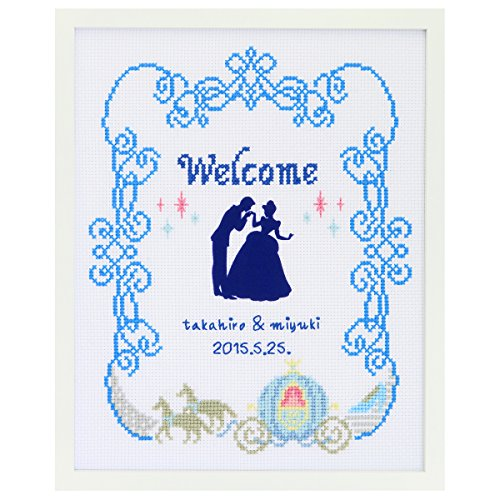 Orimupasu cross stitch embroidery kit Disney welcome board Cinderella white 7465