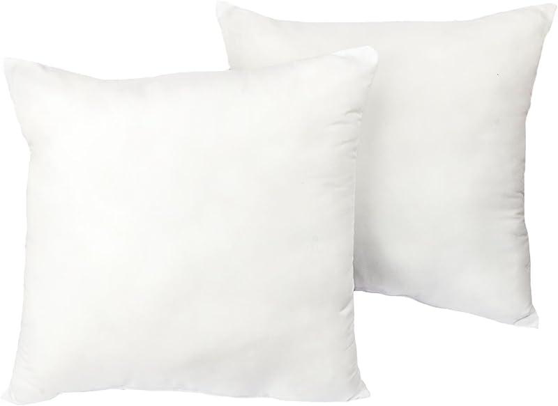 Cozy Bed European Sleep Pillow Set Of 2 White 26 H X 26 W X 4 D