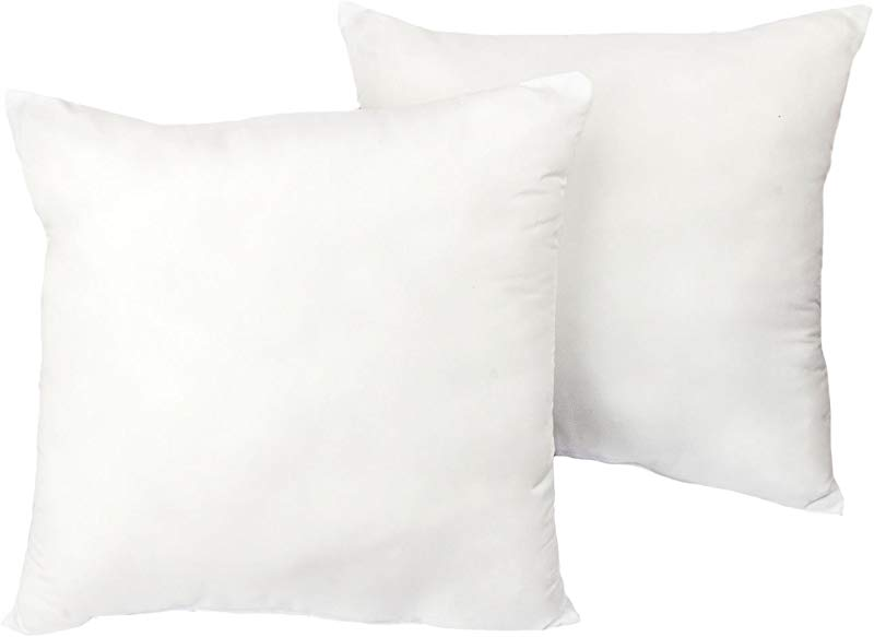 Cozy Bed European Sleep Pillow Set Of 2 White 26 H X 26 W X 4 D