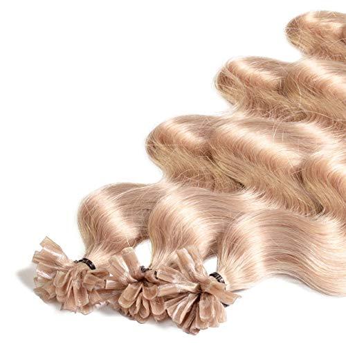 Just Beautiful Hair 25 x 1g REMY Extensions Cheveux Keratine à Chaud - 60cm, couleur #20 blond cendré, ondulé