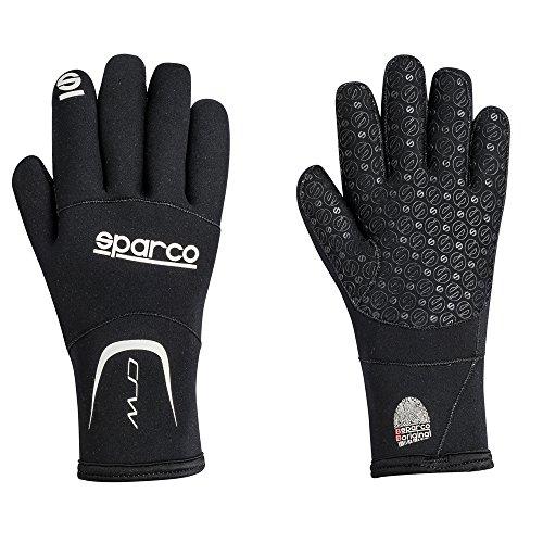 Sparco 00258NR1S Crw Handschuhe Neopren-Nr Tg S, Schwarz, S