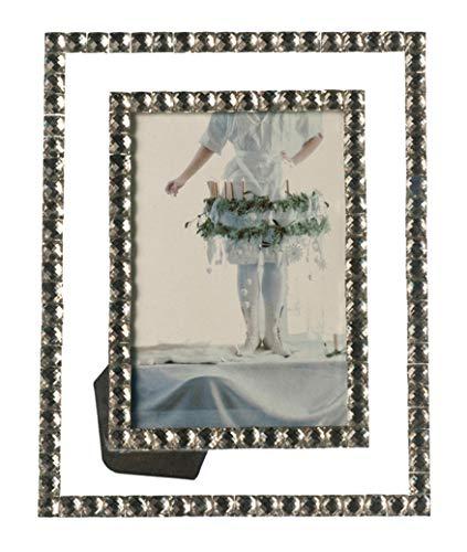Leonardo Bella Bilderrahmen, für Fotos in der Größe 13x18 cm, mit Glassteinen verziert, 058530