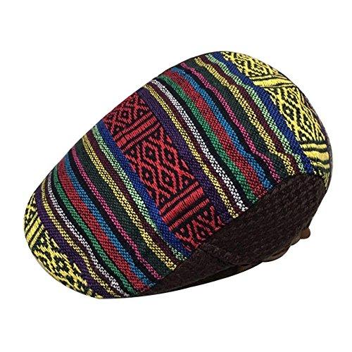 LOCOMO Bohemian Knit Flat Cap Newsb…