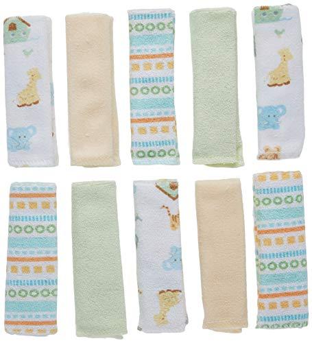 Spasilk 10 Pack Soft Terry Bath Washcloths – Newborn Boy or Girl – Baby Shower Gift