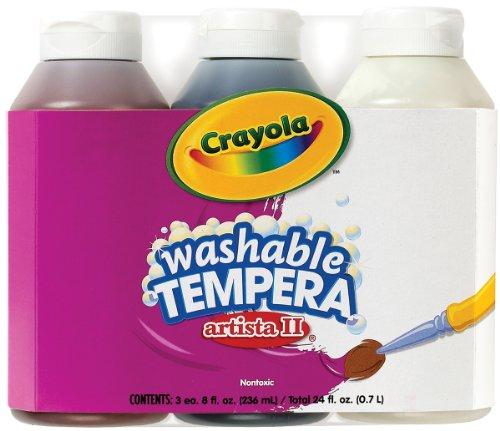 Crayola 3 Count 8-Ounce Artista II Washable Tempera Neutral Color Set
