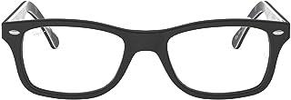 Ray-Ban 0rx5228 No Polarization Square Prescription Eyewear Frame, Top on Matte Black, 50 mm