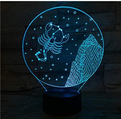 Sterrenbeeld, nachtlampje, led, sensor, 7 kleurverandering, voor kinderen, nachtlampje, baby, schorpioen, tafellamp, kantoor