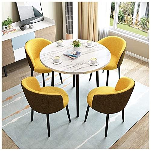 Juego de mesa de comedor para comedor y cocina, juego de mesa de centro y silla, sala de estar minimalista moderna, exhibición de ocio al aire libre, madera maciza, cocina redonda, mesa de comedor, of