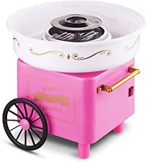 XIEZI-shaokao Vintage Hard Sugar-Free Cotton Candy Maker,Pink Cotton Candy Machine, with 1 Sugar Scoop, for Birthday Party Supplies Food Grade Safe