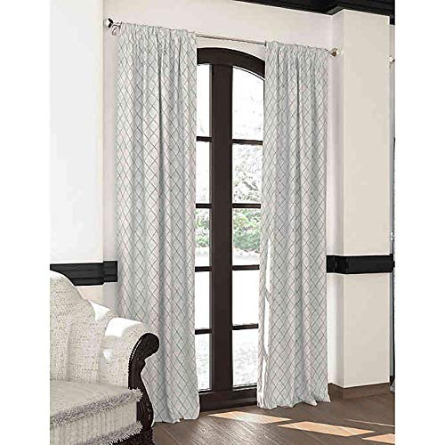 Designers' Select 84-Inch Emerson Rod Pocket/Back Tab Window Curtain Panel in Silver