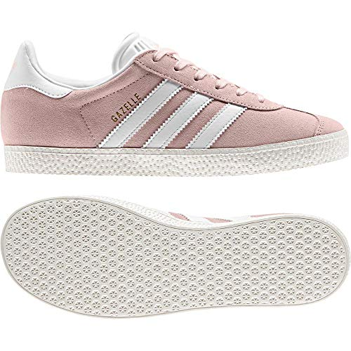 adidas Gazelle J, Chaussures de Running garçon, Multicolore (Ice Pink F17/Ftwr White/Gold Met. By9544), 37...