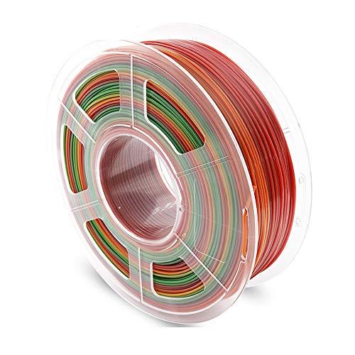 AnKun PETG 3D Printer Filament, Premium PETG Filaments 1.75mm Dimensional Accuracy +/- 0.02 mm, Rainbow, 1KG 2.2LBS Spool Printing Consumables, Fit Most FDM Printer