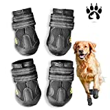 Easiestsuck Dog Boots 4 Pcs,Waterproof Dog Shoes,Outdoor Dog Snow...