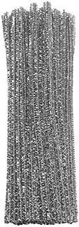 Barrilito P019 Paquete de limpiapipas (0.6 x 30 cm) de color plata metálico, bolsa con 100 piezas.,,, pack of/paquete de 100