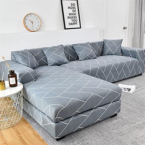 Xipi Cubiertas de sofá elásticas de Gran tamaño for la Cubierta de sofá de Sala de Estar Cubierta de sofá geométrica Mascotas de Esquina L con Forma de Chaise Longue Sofa Slfvaver 1pc