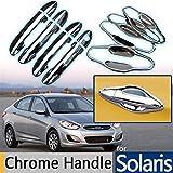 Leilims - Tapacubos para coche para Hyundai de Solaris Accent para Verna 2010-2015 cromado para manija de puerta 2011 2012 2013 2014 Hatchback Accesorios estilo de coche (color: mango y tazón grande).
