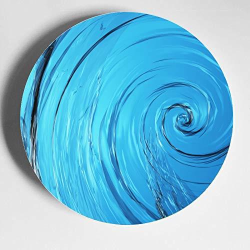Betrachten Sie die sehr bequemen Wasser-Whirlpool-Teller zum Ausstellen von Wandplatten, Keramik, Home Wackelplatte mit Display-Ständer Dekoration Haushalt Fancy Plates Keramik