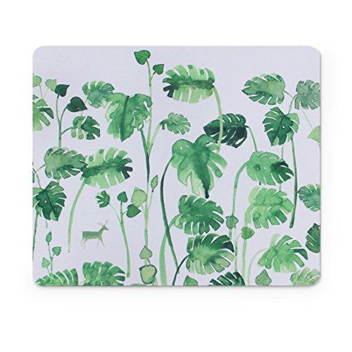 Custom Original Nature Series Mouse Pad (Banana Leaf and Deer)