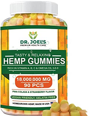 Premium Gummies - Maximum Strength - 90 cts - Anxiety, Pain, Stress, Nausea, Inflammation Support - Healthy Sleep Formula – Made in USA by DR. JOEL'S