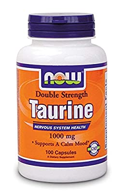 Now Foods Double Strength Taurine, 100 Vegetarian Capsules