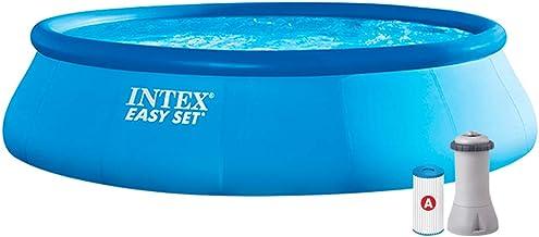 Intex 26166NP Piscina hinchable, con depuradora, 12.430 litros, 457 x 107 cm