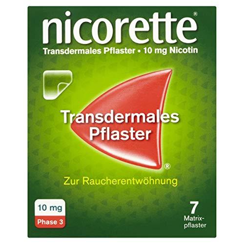 NICORETTE Pflaster mit 10 mg Nikotin – mit Nikotinpflaster Rauchen aufhören – für die letzte Phase der Raucherentwöhnung