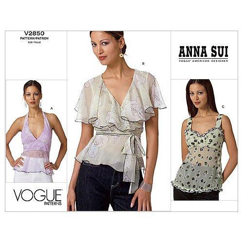 Vogue Patterns V2850 - Camiseta de Manga Corta para Mujer, T