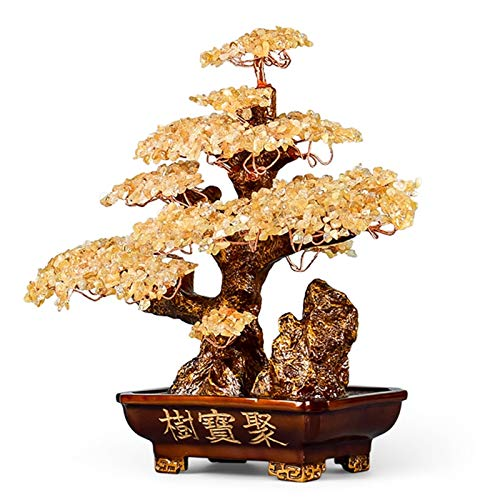 Crystal Tree Bonsai Decoration Money Tree Bonsai...