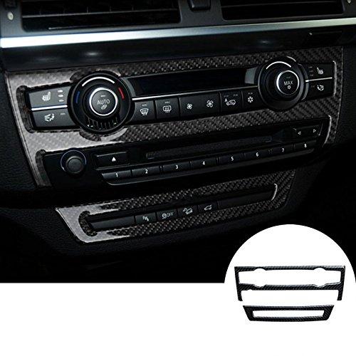 CROTRIM Carbon Fiber Console CD & AC Panel Trim Cover for BMW X5 E70?08-13? X6 E71?09-14?