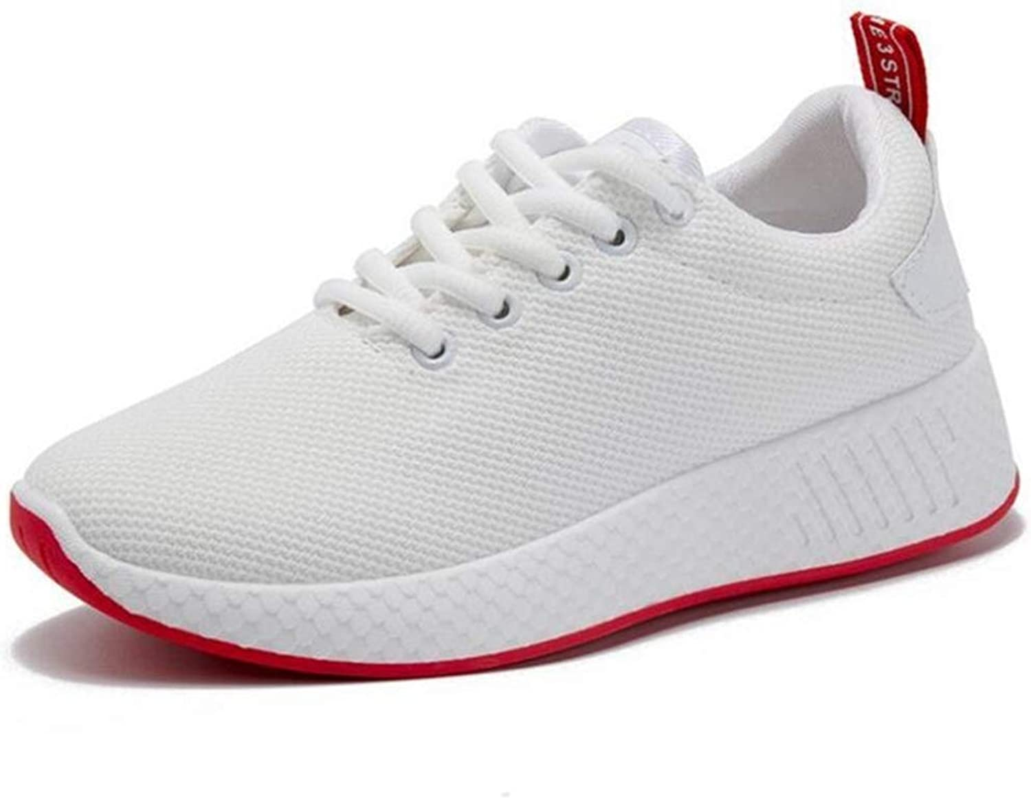 The New Casual Air Mesh Female shoes for Women Basket Spring Designer Wedges White Platform Sneakers White 7 M US