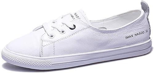 Ailj Hauszapatos Bajas Clásicas para mujer, zapatos De Lona De Corte Limpio Arriba Y Abajo De Hauszapatos Bajas blanco