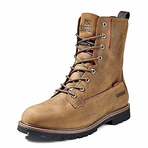 Kodiak Men's 8-Inch McKinney Soft Toe Waterproof Industrial Boot, Brown, 8 Wide