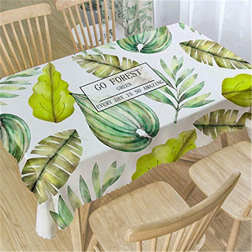 Qishi Nueva mesa de comedor impermeable impresa y mantel de tela, Imagen 53, 135*135cm
